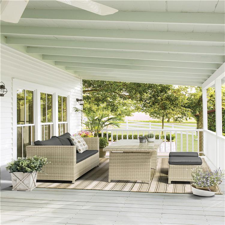 Uland Garden Sofas Rattan Outdoor Furniture New Outdoor Garden Sofa Set