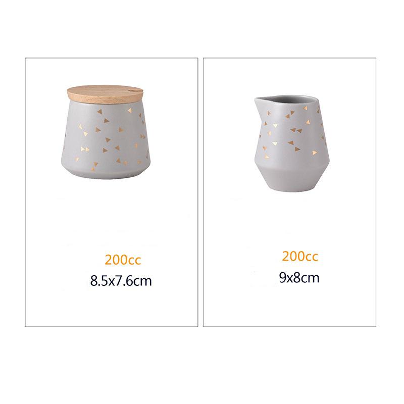 Скандинавский стиль, сахарница, молочный кувшин, деревянная крышка, хорошее качество, кофейная посуда, сливочный горшок, емкость для конфет,...(Китай)