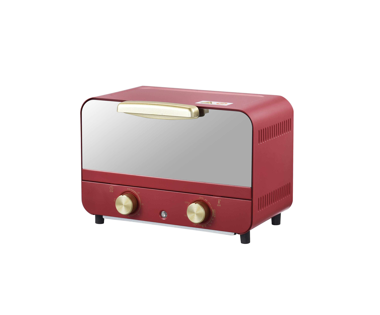 12 л Мини электрическая духовка Тостер с зеркальной стеклянной дверью