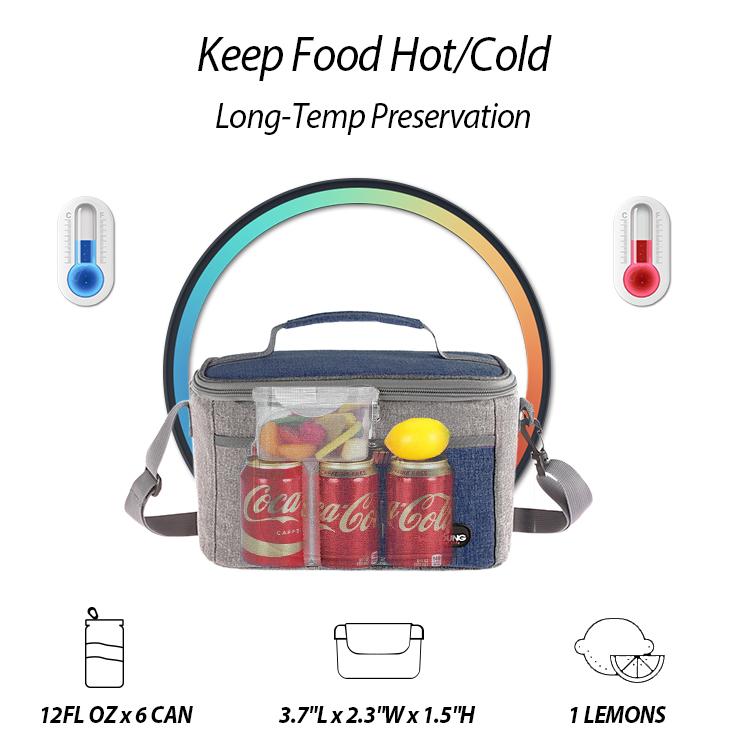 Экологически чистая изолированная сумка-холодильник с индивидуальным принтом, водонепроницаемая и многоразовая Термосумка для ланча