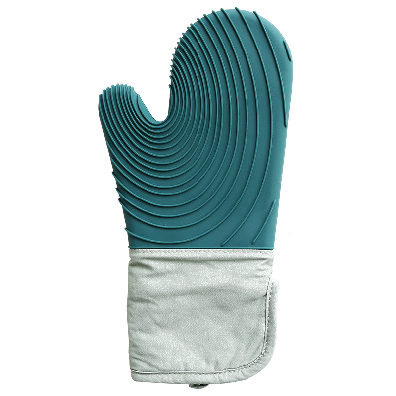 Best Sell Nordic Heat Resistant Oven Glove Set Kitchen Silicone Cooking Mitt Double Oven Glove