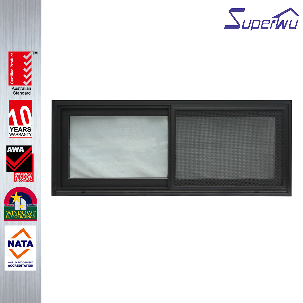 Newest design frame aluminium windows standard sliding window dimensions tempered glass panels for house