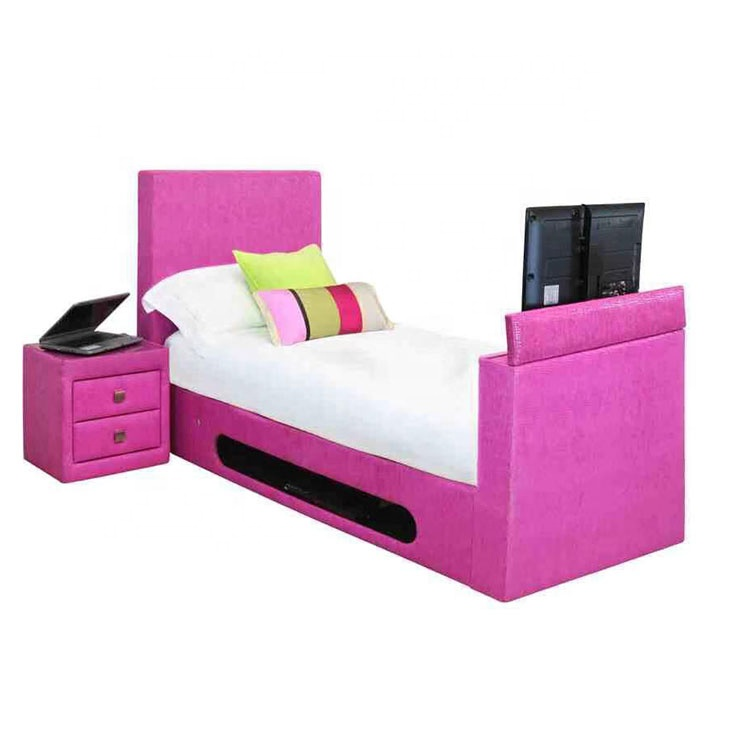 high quality princess bed for kid  bedroom funiture princess bed set kids queen size leather bed tv mount