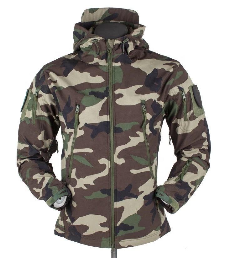 2019 Wholesale softshell jacket camouflage jacket for winter jacket