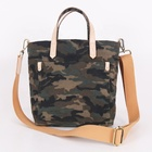 Custom high quality fashion waxed canvas camouflage Camo printed tote bag