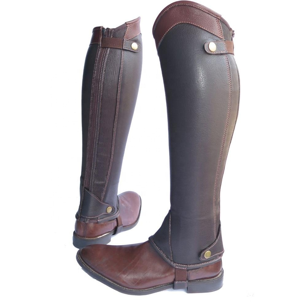 Top Quality Indian Soft Vegetable Full Grained Leather Half Chaps