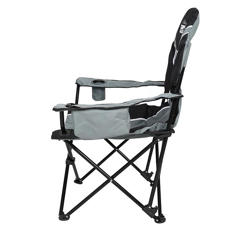 Роскошное кресло с подлокотниками и сумкой-холодильник, легкое складное кресло для отдыха и кемпинга