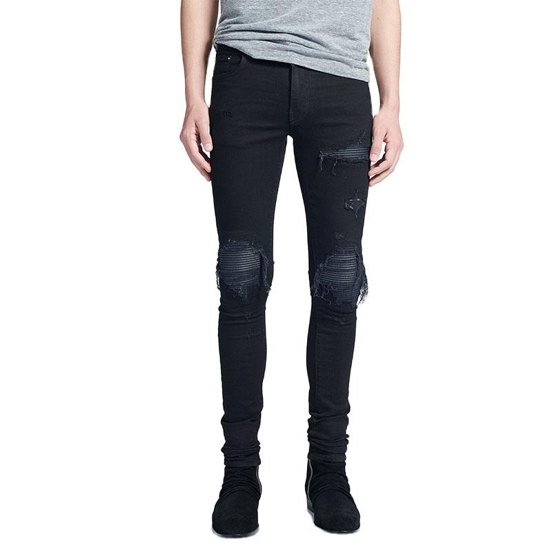 Negro Acanalado Clasico Danado Rotos Stretch Skinny De Denim Buy Pantalones Vaqueros Vaqueros Negros Para Hombre Vaqueros Para Hombre Product On Alibaba Com