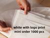 สีขาวโลโก้พิมพ์