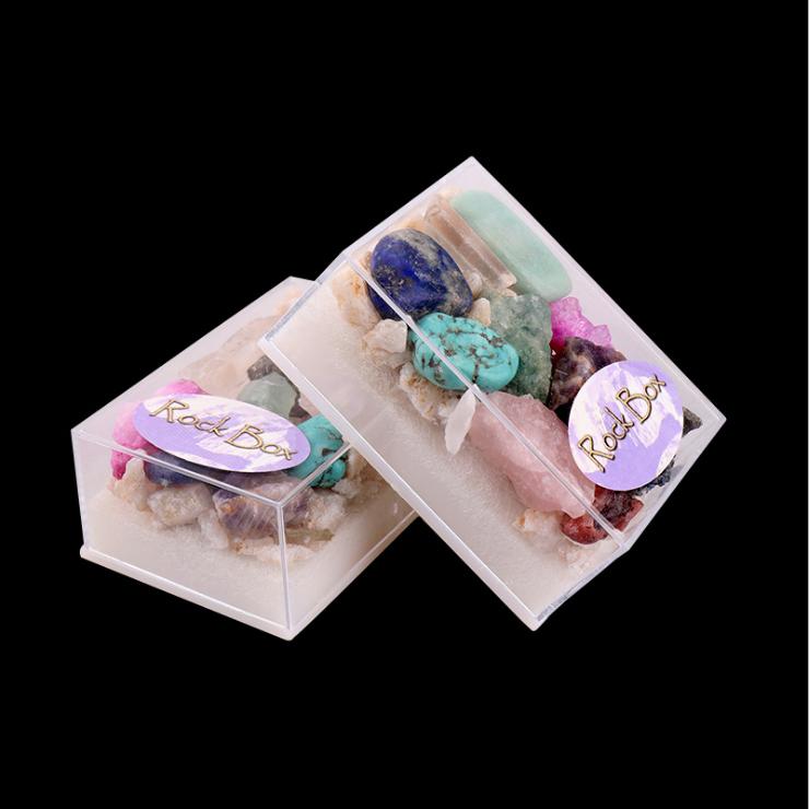 Custom crystal Stones Box Bohemian Meditation Set Crystals Healing Stones