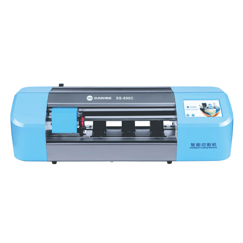 SS-890C Auto Film Cutting Machine for Phone Lcd Screen Protect Glass Back Cover Film Cutting With Flexible Hydrogel Film