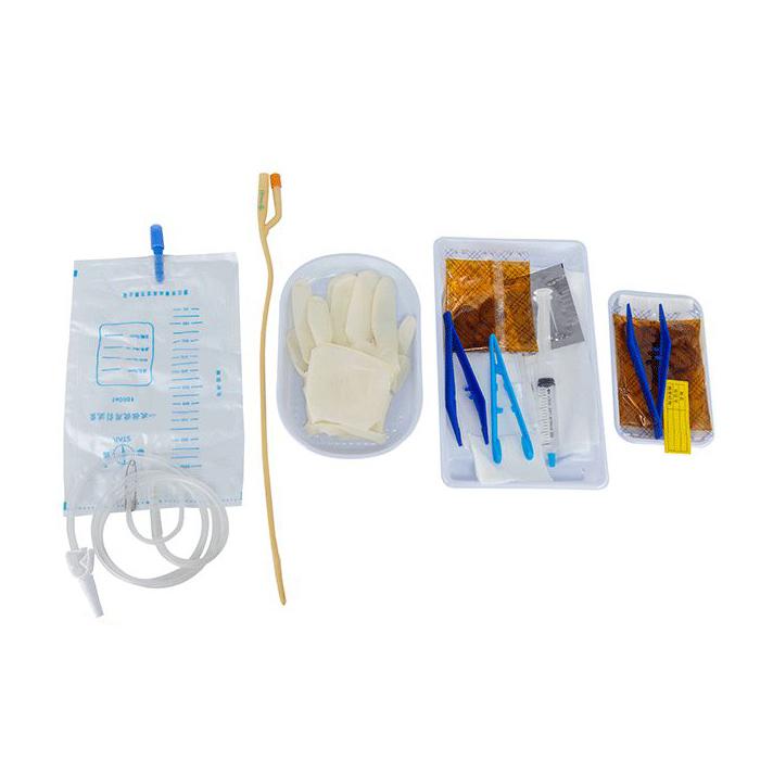 Customized Disposable Sterile Urethral Catheter Tray Foley catheter Catheterization Set