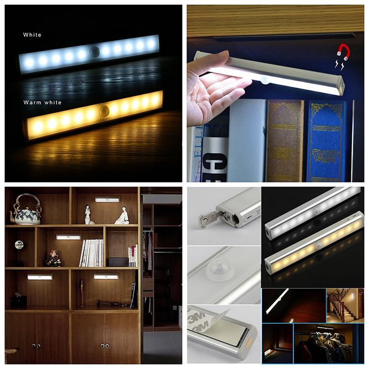 YJN5518C, оптовая продажа, сенсорный светильник для кухни, 10 светодиодов, инфракрасный светильник для шкафа с человеческим телом
