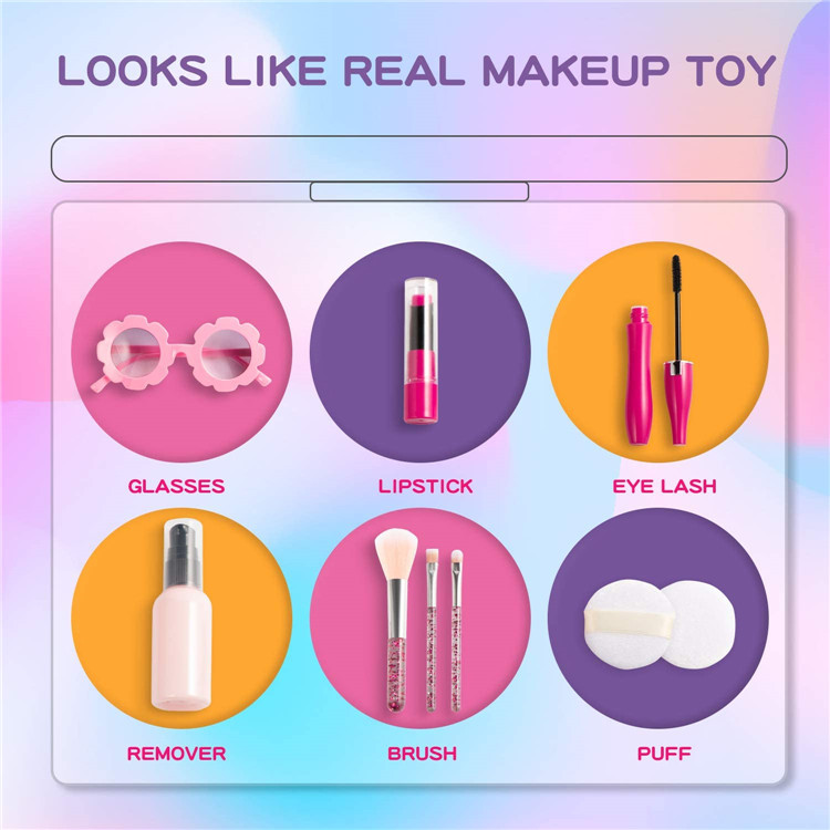 gift set princess cosmetic toy kids girl makeup kit