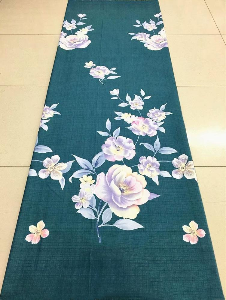 China manufacturer christmas flowers 100% cotton printed fabric pure reactive printing embroidered fabric for bedsheet