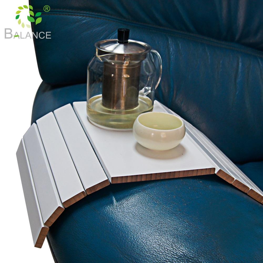 Складной Еда кофе снэк-телефон отдыха бамбуковые подлокотник клип на подставкой подставка мойка Роскошная Современная Гостиная боковой диван рука поднос столик