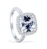 11;Platinum;square diamond ring