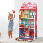 Toy Doll Toy Toy Toy 2021 New Arrival Role Play Pretend Play Toy Wooden Fire Station Doll House Toy For Kids