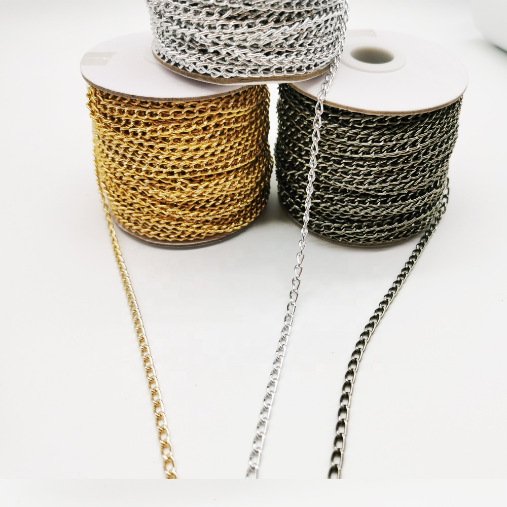 Yiwu factory direct selling clothing accessories, metal decorative chain, clothing decoration Dimensions support customization