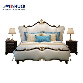 Chinese luxury double bedroom furniture kids and parents to sleep