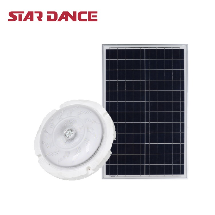 Rechargeable Three Colors Remote Control Home Use 50w 100w 200w Solar LED Ceiling Light