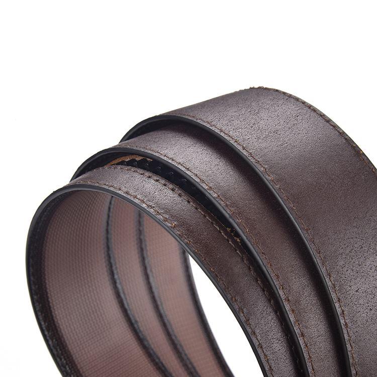 Factory supply woven man belt good quality genuine leather men belt