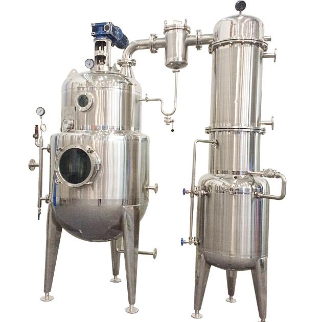 Single Effect multiple rising film vacuum concentrator evaporator for palm juice and  malt wort