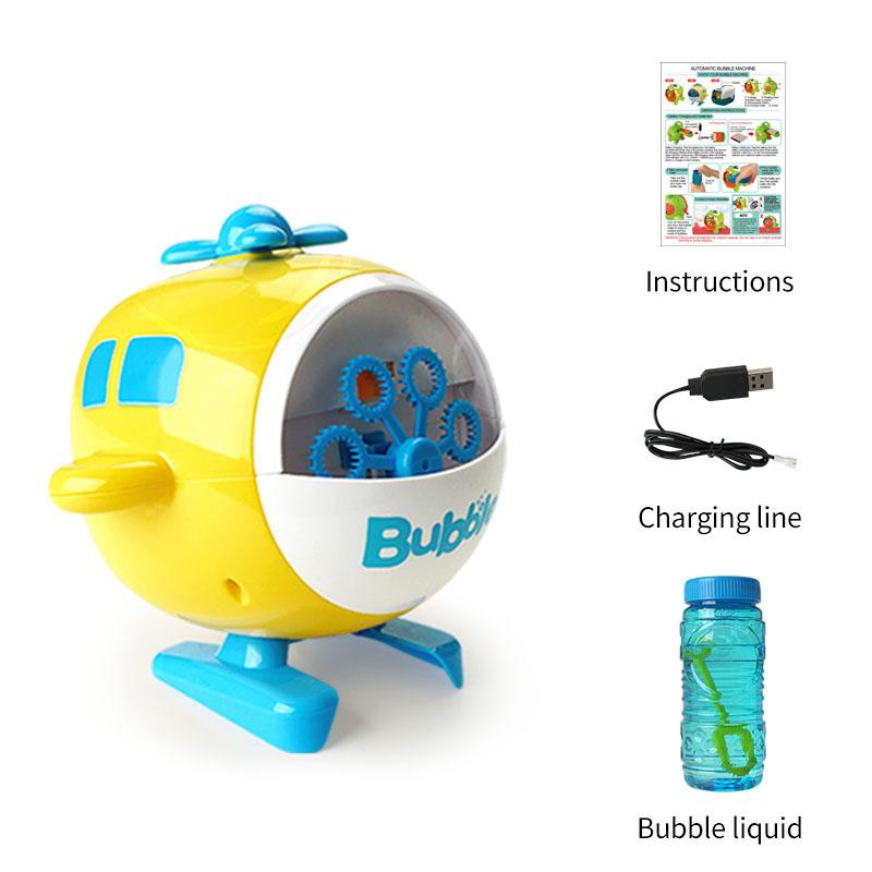 Машина для создания пузырьков в форме вертолета, перезаряжаемая машина для создания пузырьков, игрушечная электрическая машина для пузырьков, уличные игрушки