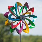 Led Windmill Spinner Wind For Lawn Solar 3D Garden Ornaments Stake Outdoor Mill Photos With Light Spinners Sunflower Ornament