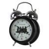 Noir double sonnette d'alarme horloge