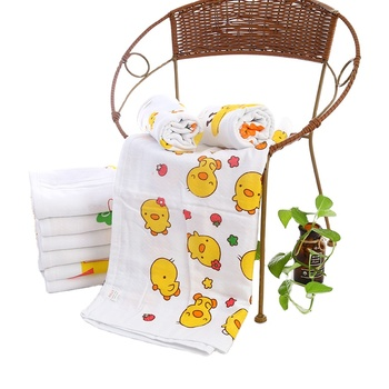 Wholesale Cartoon Baby Bath Towel 100% Cotton 60 * 120 Honeycomb Cotton Gauze Good Absorbent Children Kid Towels