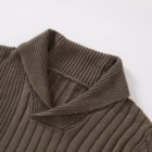 Men's Sweater Winter Fashionable Design Thick Men's Knitwear Pullover Sweater Turn-down Collar Zipper Textured Men Sweater