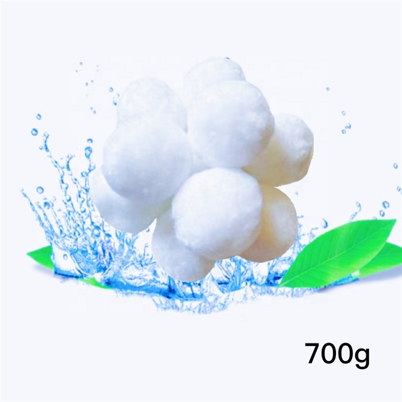 High efficiency degreasing polyester modified fiber ball filter medium water filter material