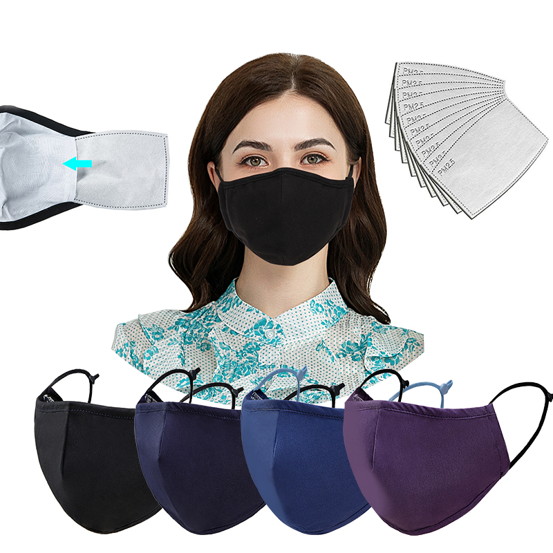 Cloth Face Mask For Adults Facemask With Filter Washable Reusable Designers Printed Designer Adjustable Cotton Carbon - KingCare | KingCare.net
