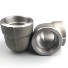 Pipe Socket ANSI B16.11 Forged Pipe Fittings 45 Degree 90 Degree Socket Weld Elbow