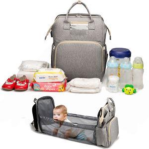 Подгузник mama bolso под собственной торговой маркой, складная кровать, большая емкость, сумки для мам, сумка-органайзер для детских подгузников