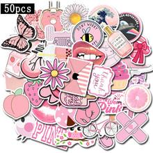 50 штук упак. Мультяшные простые наклейки VSCO для девочек Kawaii наклейки для багажа ноутбука мотоцикла холодильника игрушки Pegatinas наклейки F5(Китай)
