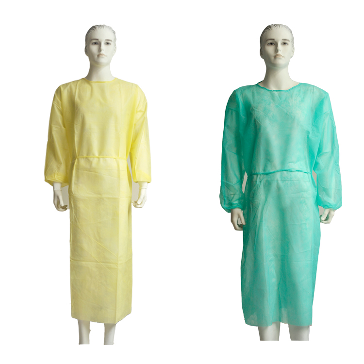 Cheap Isolation gown manufacturer OEM reusable ppe isolation gown yellow knitted cuff - KingCare   KingCare.net