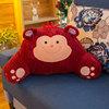 Красный с рисунком обезьяны
