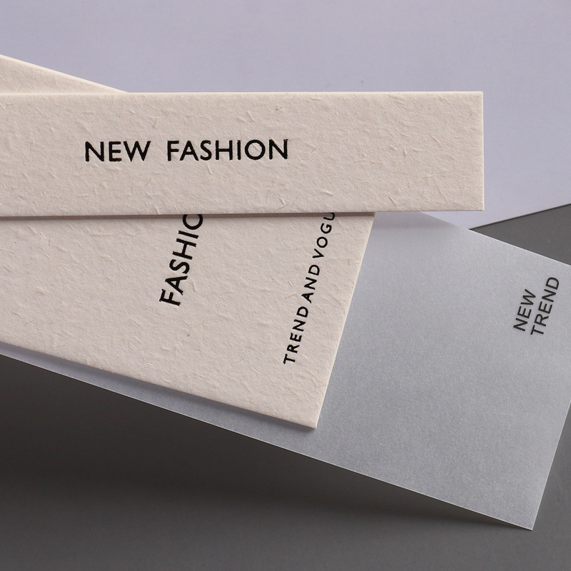 Custom Luxury Hanging Label with Free Slings Special Swing Paper Product Hang Tags for Clothing Garment