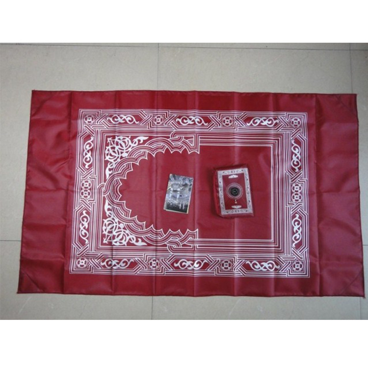 Молитвенный коврик MXCHAN с компасом, три предмета, карманный портативный мусульманский молитвенный коврик путешественника