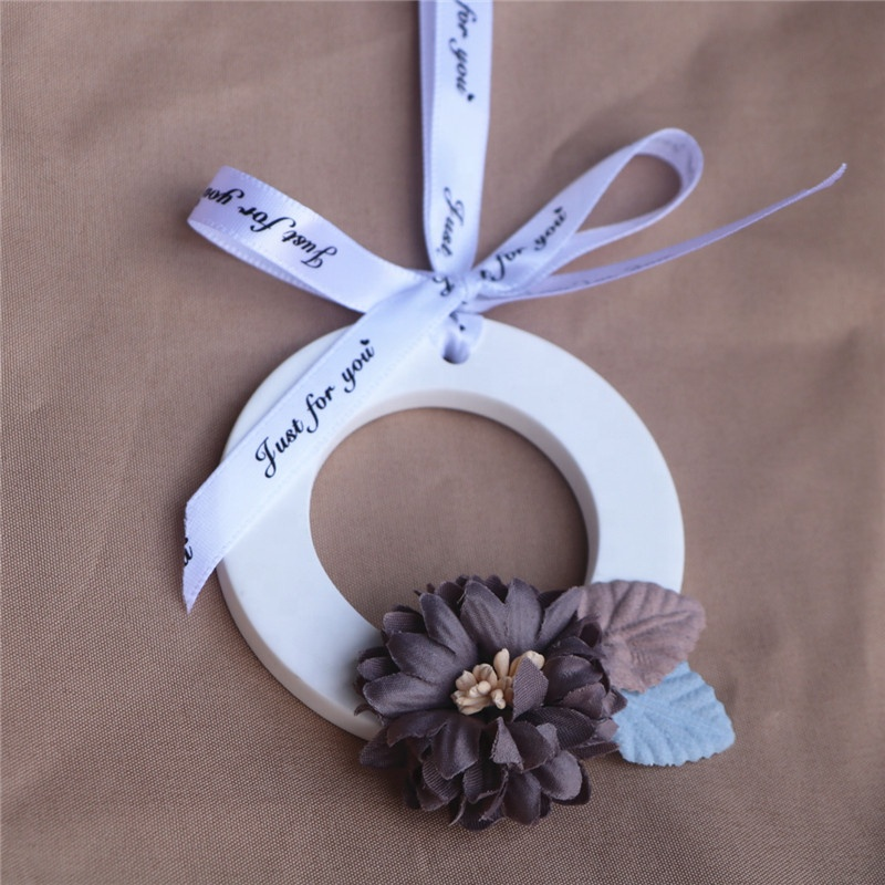 Home Decoration Fragrance Aroma Scented Ceramic Stone with Ribbon Scented Plaster