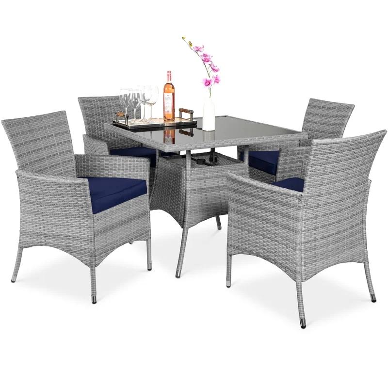 Outdoor wicker chair sofa garden outdoor courtyard leisure balcony living room villa wicker sofa combination furniture