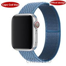 Нейлоновый ремешок для Apple Watch band 44 мм/40 мм 40 42 мм 38 мм ремешок для часов iwatch Браслет apple watch series 5 4 3 2 1 band 44 мм(Китай)