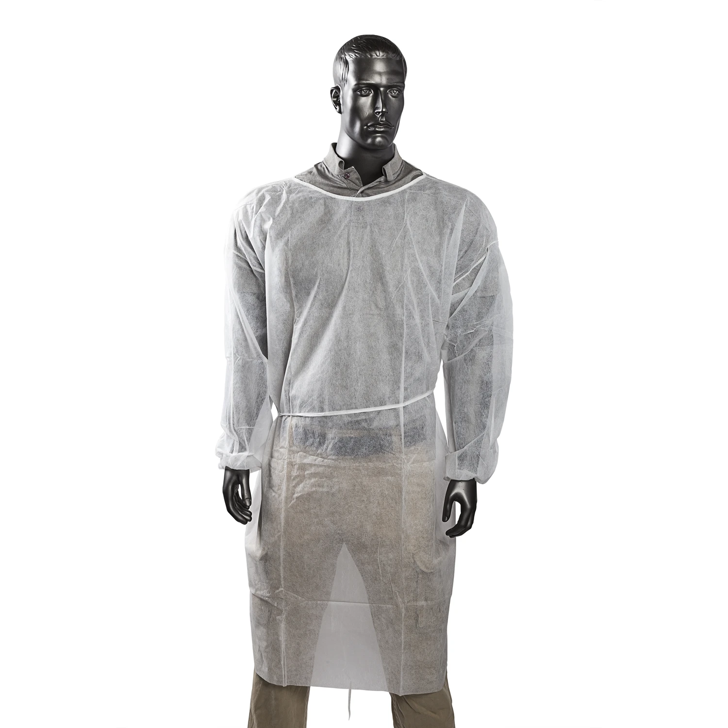 Civil long sleeves isolation gown yellow pp gsm 40 - KingCare   KingCare.net