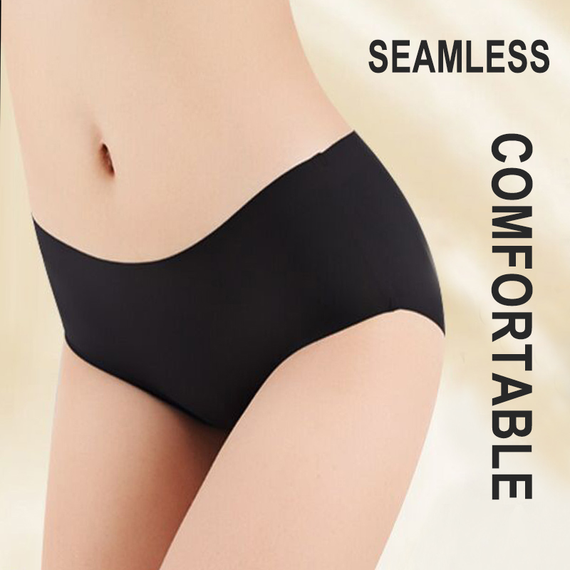 3PCS/Set Seamless Panties Women Panties Sexy Female Underpants Briefs Invisible Pantys Solid Color Soft Intimate Lingerie M 2XL