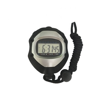 Good quality large display count-up digital stop watch with time date function