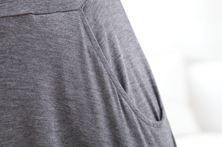 Женская длинная юбка из модала, Повседневная плиссированная юбка-макси, 4 цвета, E1712, весна-осень