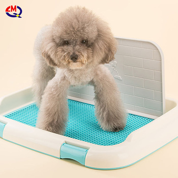Wholesale Plastic Doggie Indoor Pet Potty Tray Park Corner Dog Toilet dog wee pee pads tray toilet for dog