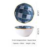 (4) Japanese Octagonal Bowl
